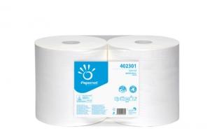 Průmyslová role Papernet STAR 1000 402301 - 30,2x23,4 cm, dvouvrstvá, 100% celulóza, bílá, 1000 útržků, 2 role