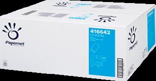 Skládaný papírový ručník ZZ Papernet V-Fold Special Nature 416642 - dvouvrstvý, 23x24 cm, deinked, bílý, 3990 ks