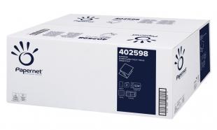Skládaný toaletní papír Papernet Super Virgin 402598 - dvouvrstvý, 21x11 cm, 100% celulóza, bílý, 40 x 224 útržků