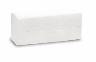 Skládaný papírový ručník ZZ Papernet V Special White 406992 - dvouvrstvý, 21x24 cm, 100% celulóza, bílý, 3990 ks