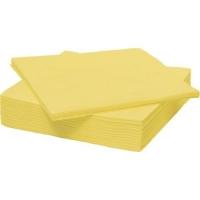 Papírové ubrousky Harmony Professional - 33x33 cm, jednovrstvé, žluté, 250 ks - DOPRODEJ
