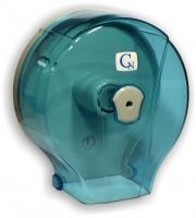 Zásobník na toaletní papír Jumbo 190 Cormen - plastový, transparentní modrý