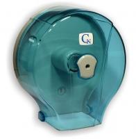 Zásobník na toaletní papír Jumbo 280 Cormen - plastový, transparentní modrý
