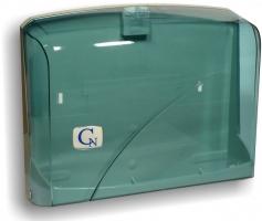 Zásobník na papírové ručníky ZZ Cormen Z200 - úzké ručníky, plastový, transparentní modrý
