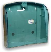 Zásobník na papírové ručníky ZZ Cormen - 23x25 cm, plastový, transparentní modrý
