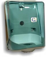 Zásobník na papírové ručníky v roli Cormen - MIDI i MAXI, středový odvin, transparentní modrý