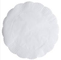 Papírové rozetky Paloma - 15x15 cm, jednovrstvé, 100% celulóza, bílé, 625 ks