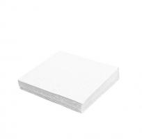 Koktejlové ubrousky - 24x24 cm, jednovrstvé, 100% celulóza, bílé, 500 ks