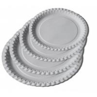 Papírový talíř Classic 23 cm - mělký, bílý, 100 ks