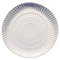 Papírový talíř Classic 34 cm - hluboký, bílý, 50 ks