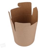 Papírový EKO box na nudle - velký, kraft, hnědý, 750 ml, 50 ks