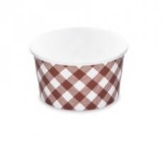 Kulatá miska na polévku KARO 350 ml - PAP/PE, papírová, vzor, 50 ks