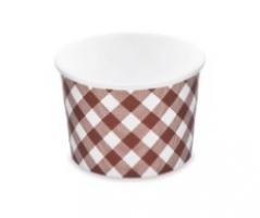 Kulatá miska na polévku KARO 500 ml - PAP/PE, papírová, vzor, 50 ks