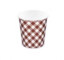 Kulatá miska na polévku KARO 750 ml - PAP/PE, papírová, vzor, 50 ks