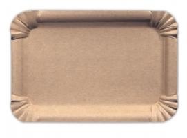 Papírové EKO tácky č.4 - 13x20 cm, kraft, hnědé, 250 ks