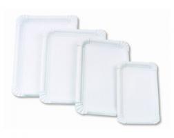 Papírové tácky Exclusive č.4 - 13x20 cm, bílé, 250 ks