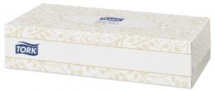 Extra jemné kosmetické kapesníčky Tork 140280 - v krabičce, dvouvrstvé, 100% celulóza, 100 ks