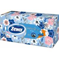 Kosmetické kapesníčky Zewa Deluxe Design - v krabičce, třívrstvé, 100% celulóza, 90 ks