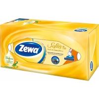 Kosmetické kapesníčky Zewa Softis Soft & Sensitive - v krabičce, čtyřvrstvé, 100% celulóza, 80 ks