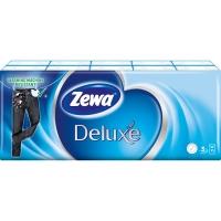 Papírové kapesníčky Zewa Deluxe Standart - třívrstvé, 100% celulóza, 10 balíčků