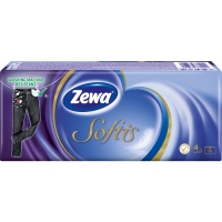 Papírové kapesníčky Zewa Softis Standart - čtyřvrstvé, 100% celulóza, 10 balíčků