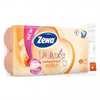 Toaletní papír Zewa Deluxe Cashmere Peach - třívrstvý, 100% celulóza, parfém broskev, 150 útržků, 8 rolí