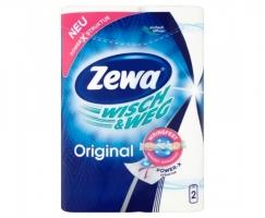 Kuchyňské utěrky Zewa Wish & Weg - role, dvouvrstvé, 100% celulóza, 45 útržků, 2 role