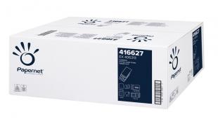 Skládaný papírový ručník Papernet Superior W-Fold 416627 - dvouvrstvý, 22x32 cm, 100% celulóza, bílý, 3000 ks