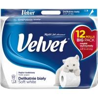 Toaletní papír Velvet - třívrstvý, 100% celulóza, 18,3 m, 12 rolí