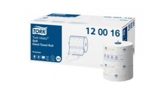 Jemné papírové ručníky Tork Matic 120016 - v roli, dvouvrstvé, celulóza+recykl, 120 m, systém H1, 6 rolí