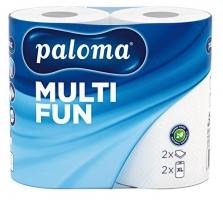 Kuchyňské utěrky Paloma Multi Fun XL Maxi - role, dvouvrstvé, 100% celulóza, 22 m, bílé, 2 role