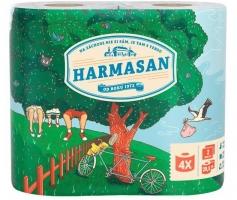 Toaletní papír Harmasan 4 - dvouvrstvý, recykl, návin 20,5 m, 4 role - DOPRODEJ