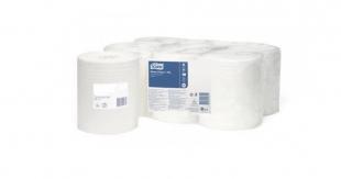 Papírová utěrka v roli Tork Basic 509244 - středový odvin, dvouvrstvá, průměr 19cm, celulóza+recykl, 162 m, bílá, systém M2, 6 rolí