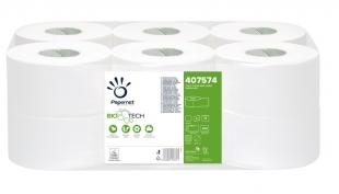 Toaletní papír Papernet BioTech Mini Jumbo 190 407574 - dvouvrstvý, 100% celulóza, 140 m, 12 rolí