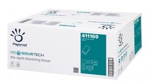 Skládaný papírový ručník ZZ Papernet V Superior 411169 - dvouvrstvý, 22x21 cm, 100% celulóza, 3150 útržků