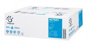 Skládaný papírový ručník ZZ Papernet DryTech Z-Top 407551 - dvouvrstvý, 20,3x24 cm, celulóza TAD, 2600 ks