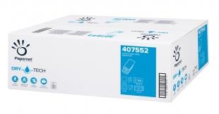 Skládaný papírový ručník Papernet DryTech W-Fold 407552 - dvouvrstvý, 20,3x32 cm, celulóza TAD, 2000 ks