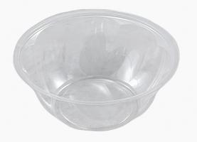 Kulatá miska na salát 1000 ml - plastová, transparentní, 50 ks