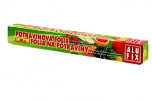 Potravinová fólie 30 cm Alufix - s pilkou, 10 my, transparentní, 30 m