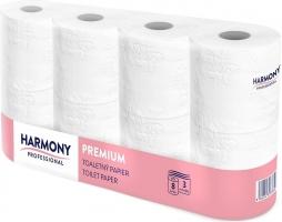 Toaletní papír Harmony Professional Premium - třívrstvý, 100% celulóza, návin 29,4 m, 8 rolí