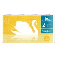 Toaletní papír Harmony Comfort - dvouvrstvý, 100% celulóza, návin 19 m, 8 rolí - DOPRODEJ