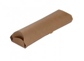Papírová EKO kapsa na wrap/tortilu - odtrhávací, 20x7x5,5 cm, kraft, hnědá, 50 ks