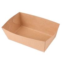 Kónická miska na hranolky 500 ml - 13,5x11x4,5 cm, kraft, hnědá, 100 ks