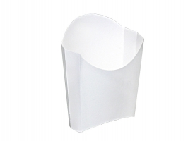 Krabička na hranolky - wrap, 3,9x5,2x7,5x10 cm, bílá, 50 ks