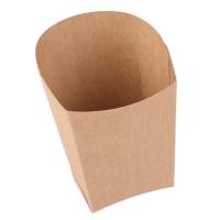 Krabička EKO na hranolky - wrap, 3,9x5,2x7,5x10 cm, kraft, hnědá, 50 ks