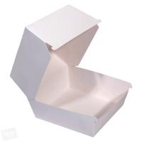 Papírový box na burger - 11x11x9 cm, bílý, 50 ks