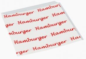 Papírový sáček na burgery - s potiskem, 16x17 cm, bílý, 500 ks