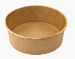 Kulatá EKO miska na salát 750 ml - kraft, papírová, hnědá, 50 ks