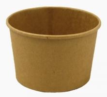 Kulatá EKO miska na polévku 230 ml - kraft, papírová, hnědá, 50 ks