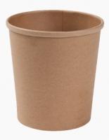 Kulatá EKO miska na polévku 360 ml - kraft, papírová, hnědá, 50 ks
